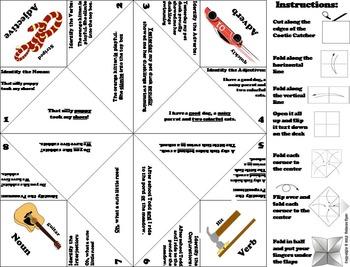 Parts of Speech Quiz 5th, 6th, 7th, 8th Grade Grammar Games Practice