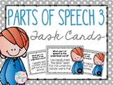 Parts of Speech 3 Task Cards- Nouns, Verbs, Adjectives and Adverbs