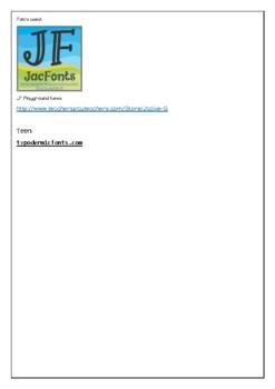 Parts of Speech Info Sheet
