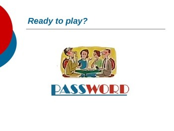 Parts of Speech (4th Grade)-Password Game