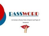 Parts of Speech (4th Grade)-Password Game