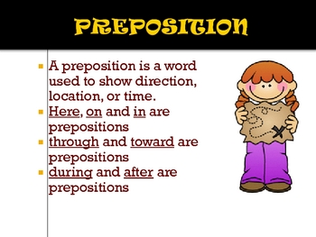 Parts of Speech 8 printables