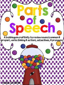 Parts of Speech {A Craftivity to Review Nouns, Verbs, Adjectives, & Pronouns}