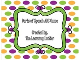 Parts of Speech ABC Game