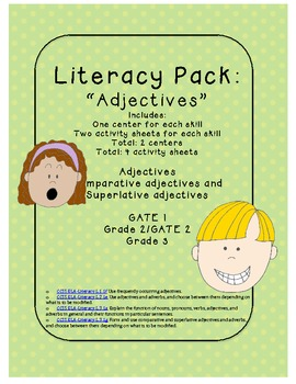 Parts of Speech: ADJECTIVE PACK