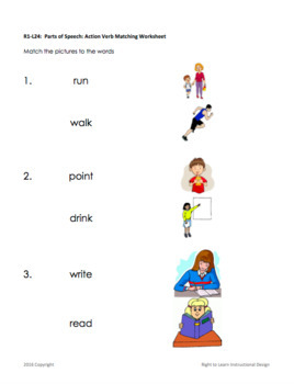 Parts of Speech, Action Verbs