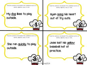 Parts of Speech Activities {Cooking it Up!}