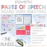 Parts of Speech Activities: Nouns, Verbs, and Adjectives Bundle