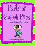 Parts of Speech Activities Pack: Nouns, Verbs & Adjectives