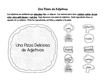 Parts of Speech Activities Sampler (Spanish)
