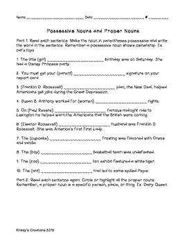 Parts of Speech Activities/Rice Shakers