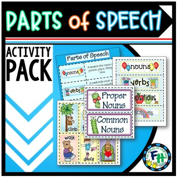 Parts of Speech Activity Pack