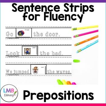 Parts of Speech Activity-Prepositions- Sentence Strips