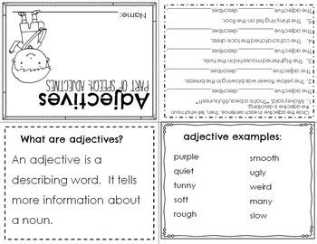 Parts of Speech: Adjective Mini Books & Poster Set