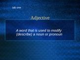 Parts of Speech - Adjectives