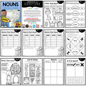 Parts of Speech: Adjectives, Nouns, & Verbs {BUNDLE}