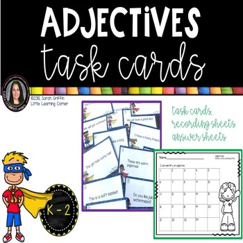 Parts of Speech ~ Adjectives ~ Task Cards Center