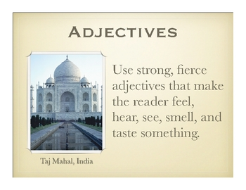 Parts of Speech: Adjectives and Wonders of the World