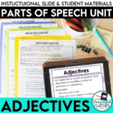 Adjectives: Parts of Speech Unit (PowerPoint, lessons, activities, tests)