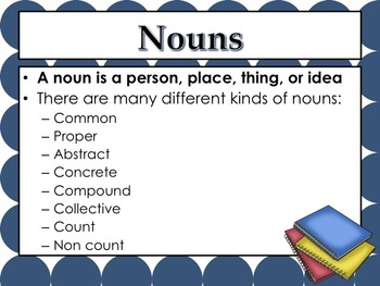 Nouns: PowerPoint, lessons, activities, tests