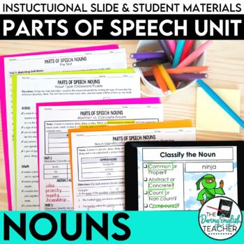 Nouns as a Part of Speech: PowerPoint, Worksheets, Tests, Handouts, Answer Keys