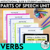 Verbs: Parts of Speech, PowerPoint, lessons, activities, tests