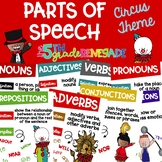 Parts of Speech Anchor Chart Posters ~Circus Big Top Theme~ Melonheadz Clip art