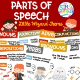 Parts of Speech Anchor Chart Posters ~Little Wizard Theme~