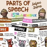 Parts of Speech Anchor Chart Posters ~Safari Theme~ Melonheadz Clip art