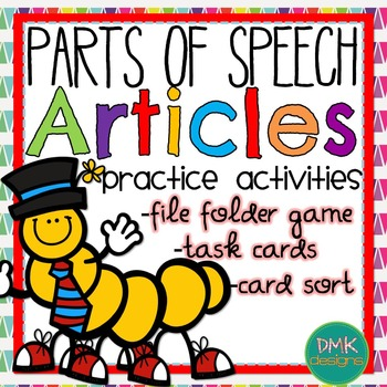 Parts of Speech: Articles Practice Activities