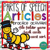 Parts of Speech: Articles Practice Activities