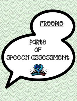 Parts of Speech Assessment