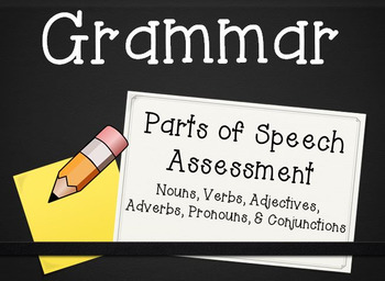 Parts of Speech Assessment