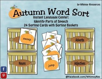 Parts of Speech- Autumn Sort