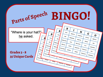 graphic relating to Parts of Speech Printable Games called Elements Of Speech Bingo Worksheets Schooling Components TpT