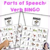 Parts of Speech BINGO - Verbs - speech therapy, special education