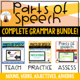 Parts of Speech BUNDLE - PowerPoint, Notes Pages, Review Game, Test, and more!