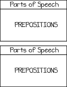 Parts of Speech Basic Interactive Notebook Pages