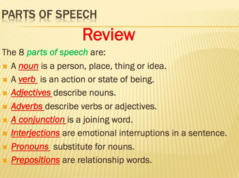 Parts of Speech - Beat the Clock