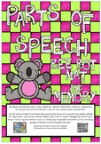 Parts of Speech Bee-bot mat and memory match game pack