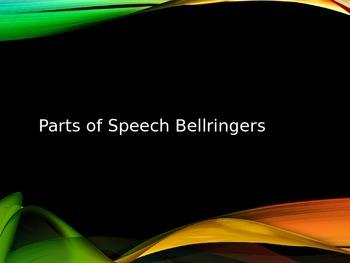 Parts of Speech Bellringers