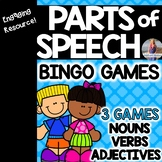 Parts of Speech Bingo Games (Nouns, Verbs, Adjectives)