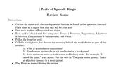 Parts of Speech Bingo Review Game