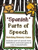 Parts of Speech Board Game - Jungle Themed {SPANISH}