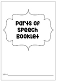 Parts of Speech Booklet