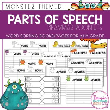 Parts of Speech Grammar Booklets