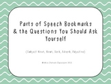 Parts of Speech Bookmarks