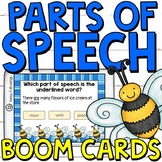 Parts of Speech Boom Cards (digital task cards) for Third Graders