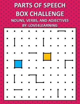 Parts of Speech Box Challenge Activity