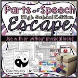 Parts of Speech Escape Room / Lock Box for High School